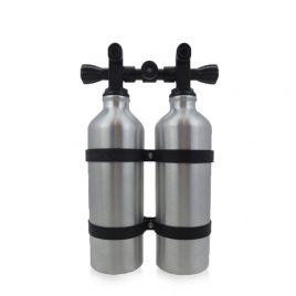 Twintank造型铝制水瓶 550ML